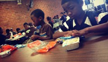 Kids at Summer Meals Site