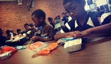 Kids at Summer Meals Site
