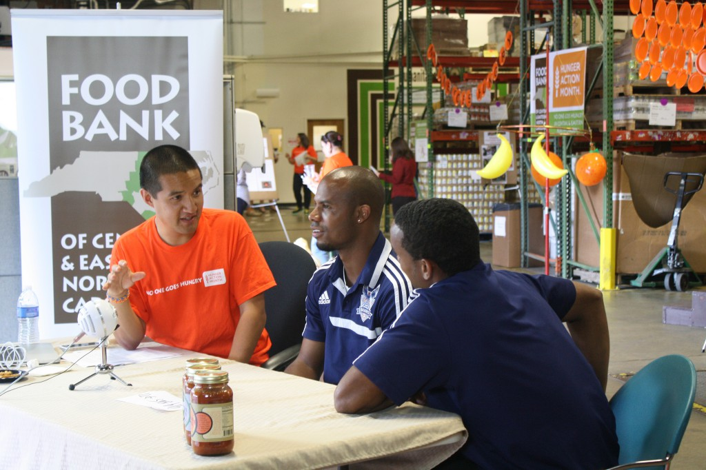 That's me interviewing the RailHawks at last year's event!