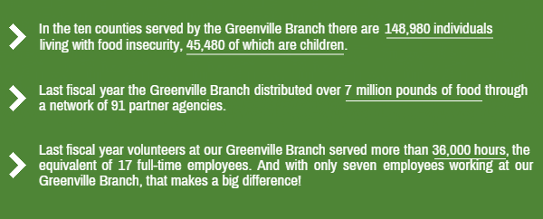 Greenville Branch Stats