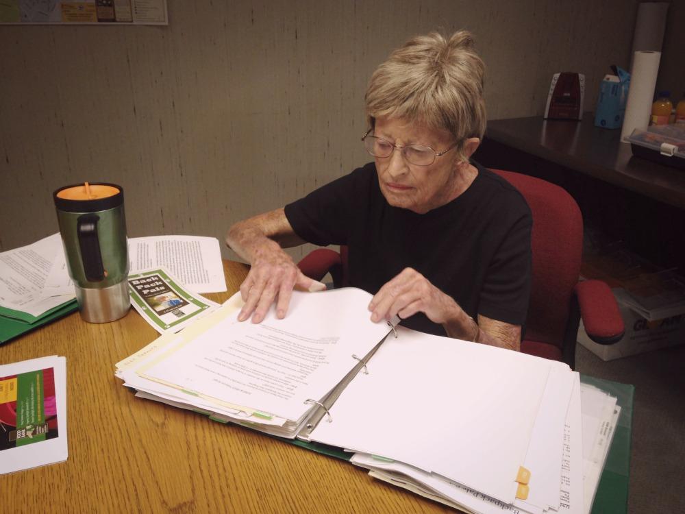 Linda Hubbard Working at TAble