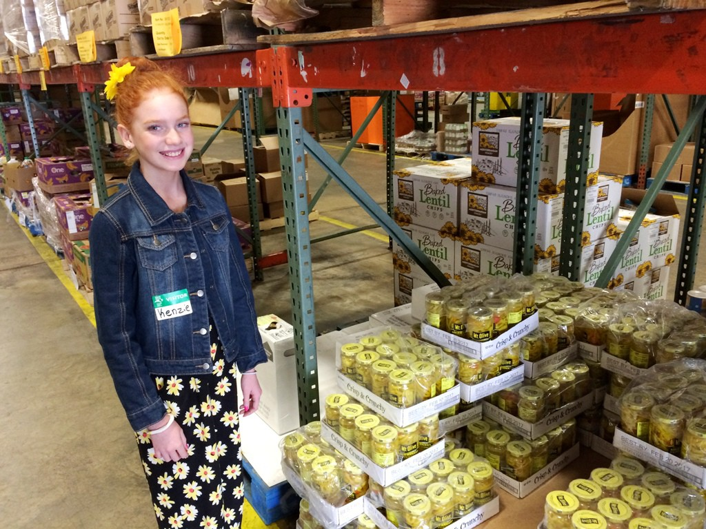 Photo of Mackenzie in Food Bank Raleigh Branch