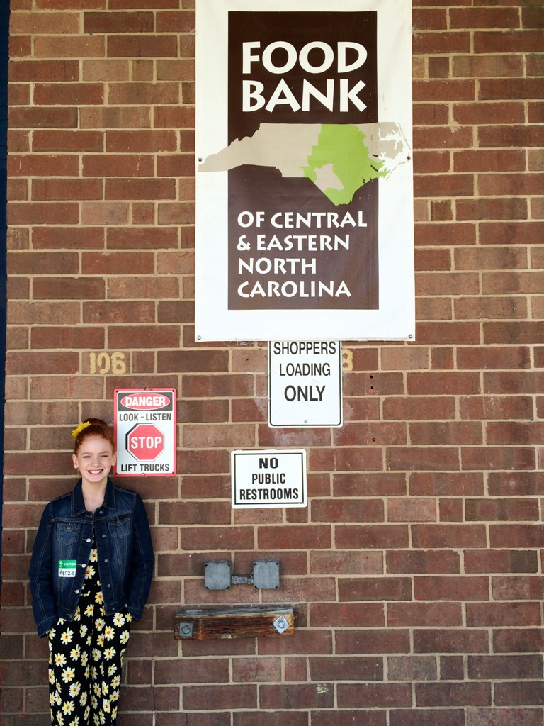 Photo of Mackenzie at the Food Bank's Raleigh Branch