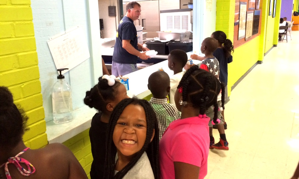Photo of children at one of our Kids Summer Meals sites