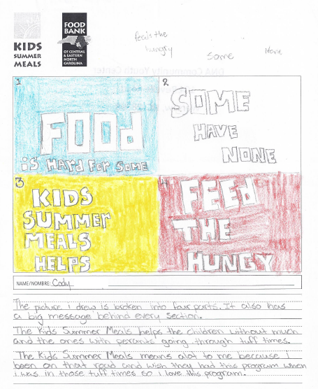 """""""What Kids Summer Meals Means to Me"""" by Cody"""