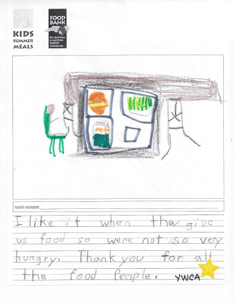 """""""What Kids Summer Meals Means to Me"""" by a child at a Kids Summer Meals site."""