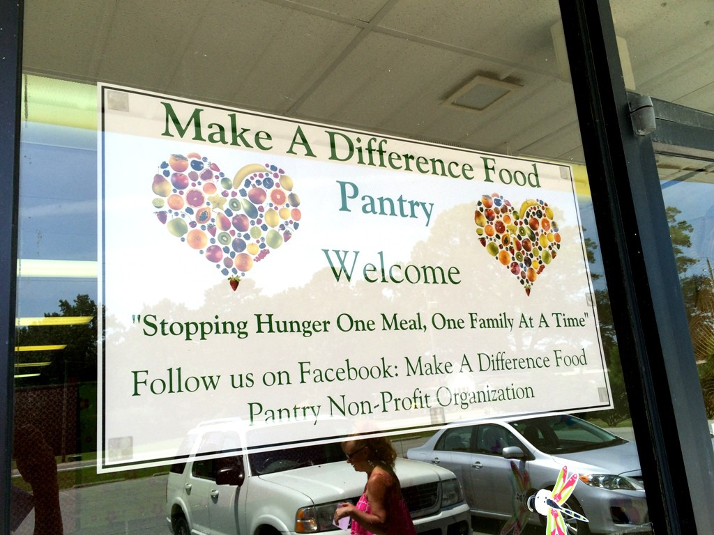 Photo of Make A Difference Food Pantry sign