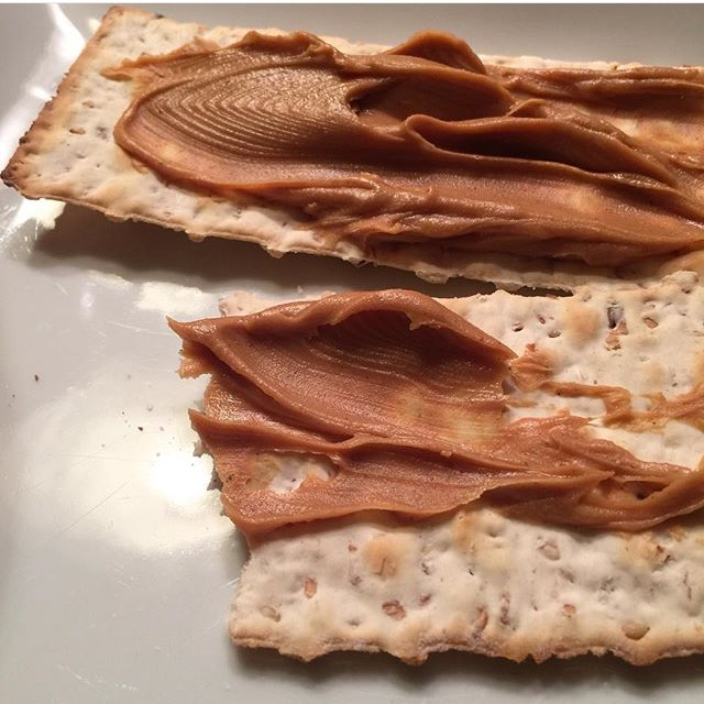 Photo of crackers and peanut butter