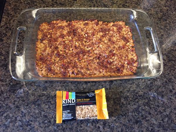 Photo of oatmeal bars