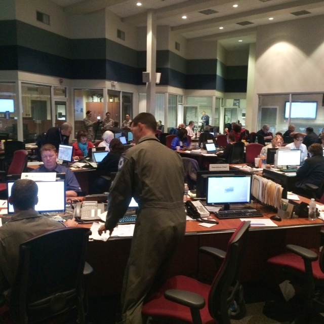 Photo of Emergency Operations Center in Columbia