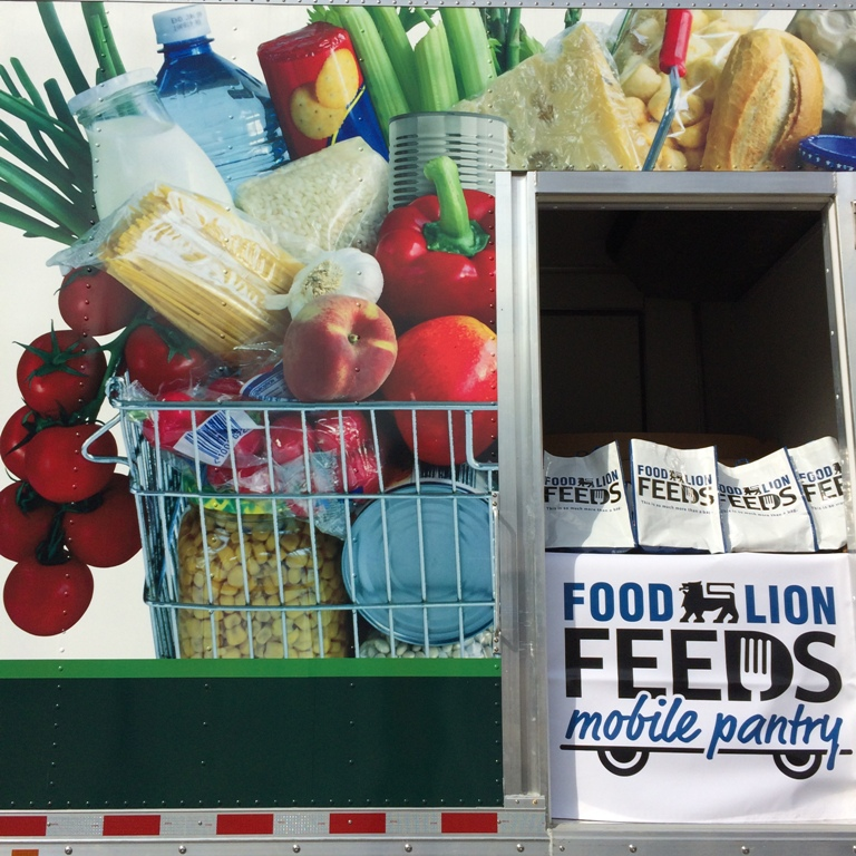 Close up photo of Mobile Food Pantry