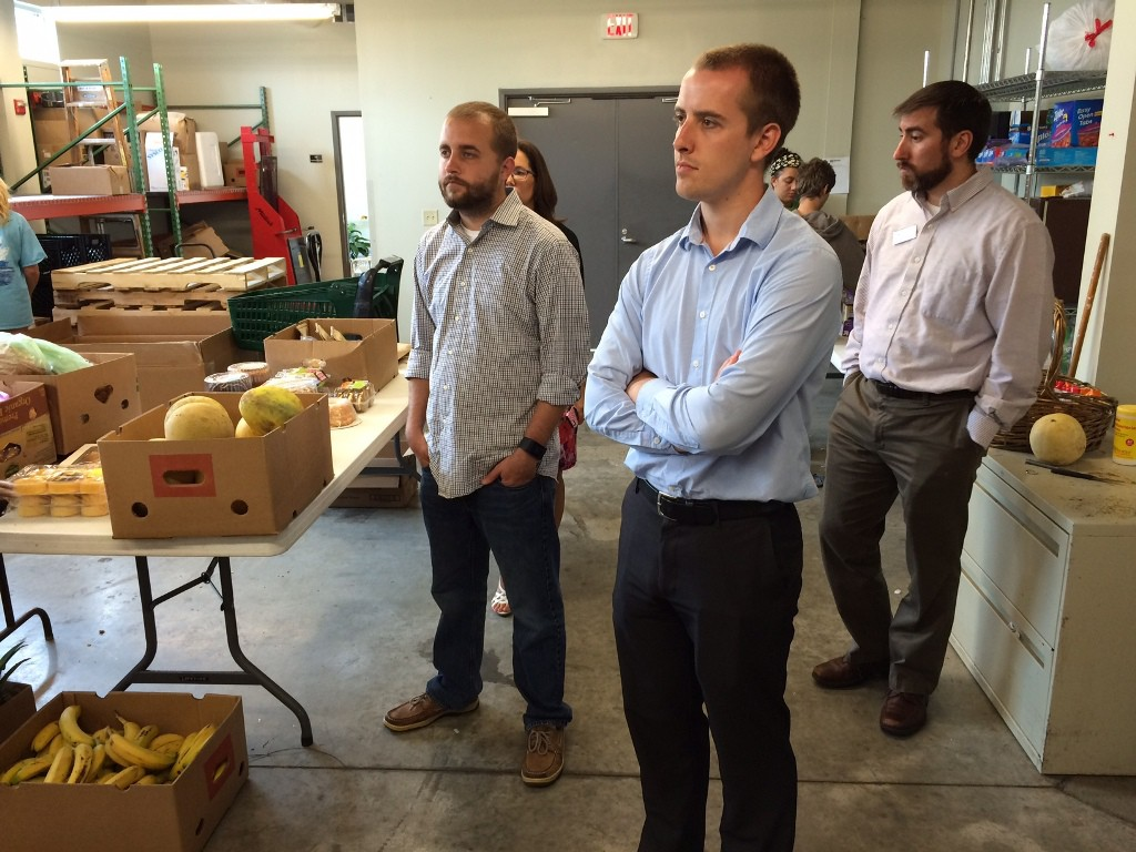 Photo of Matt Abele in Urban Ministries Food Pantry