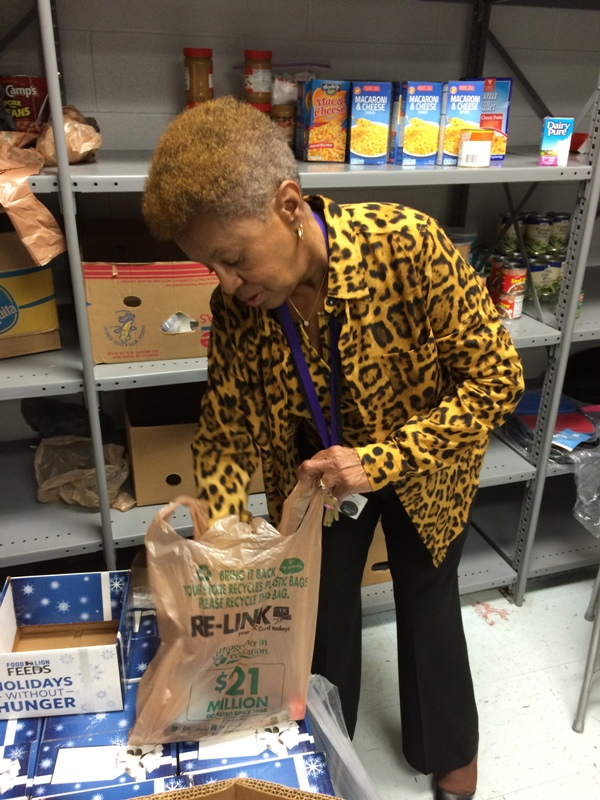 Photo of Marcelle in school pantry