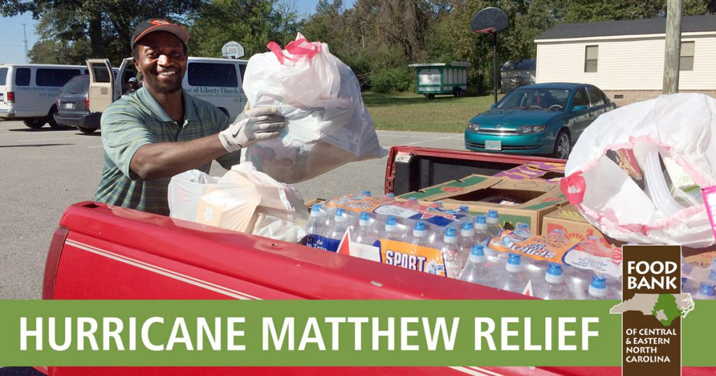 tractor-trailer truck loads filled with Hurricane Matthew relief food and supplies were brought to Edgecombe County this week.