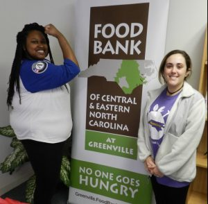 ECU Students Nicole & Lizzie organized their fellow Pirates to volunteer