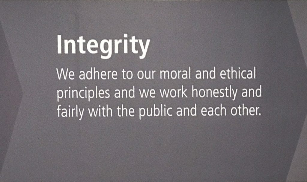 Integrity - Food Bank CENC core value
