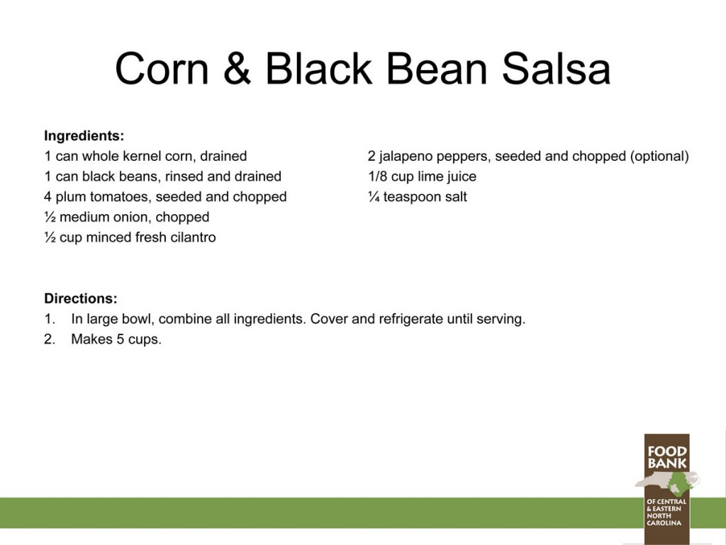 Health Cookouts recipe corn and black bean salsa
