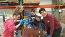 Franklin Academy volunteers experience sorting potatoes