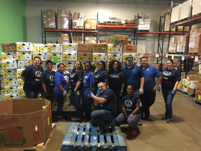Allstate Volunteers helped Feeding Northeast Florida with disaster relief, following Hurricane Irma