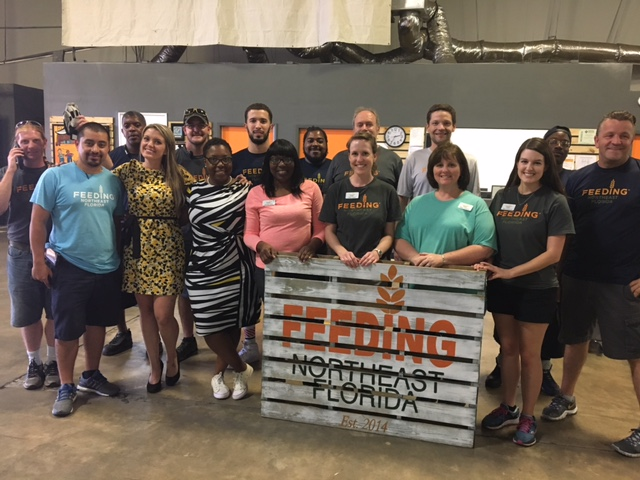 FNEFL Family, staff from FNEFL and sister food banks worked together to help the community following Hurricane Irma