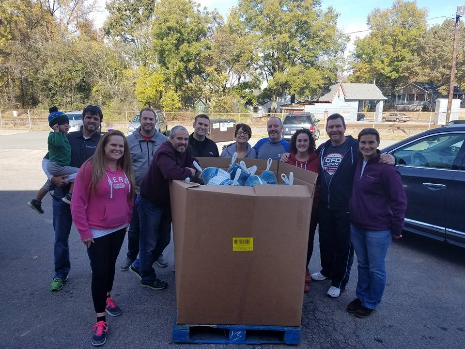 CrossFit Durham Thanksgiving turkey donation
