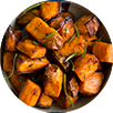 Roasted Sweet Potatoes and Cranberries