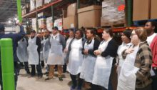Volunteers from 'Life' at Food Bank CENC