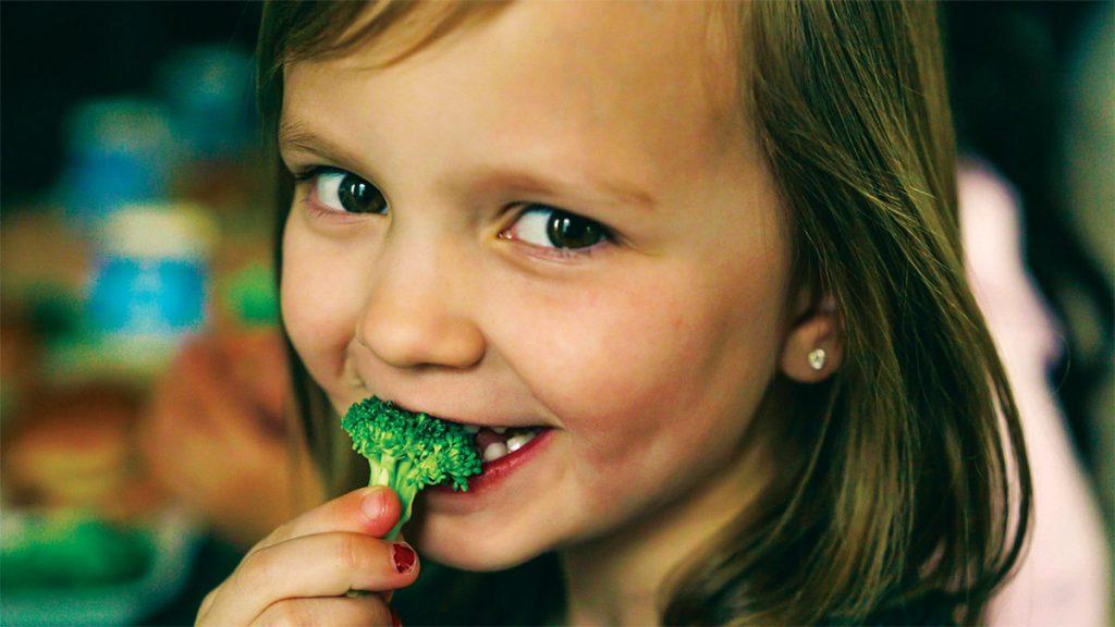 Girl with Broccoli