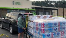 NC Baptist Men picking up some Florence Relief food & supplies to bring to #CarteretCounty.