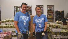 Kat and Bert volunteering